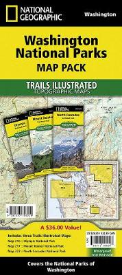 Washington National Parks Map Pack Bundle (Sheet map, folded)