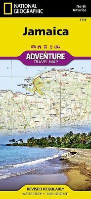 Jamaica: Travel Maps International Adventure Map (Sheet map, folded)