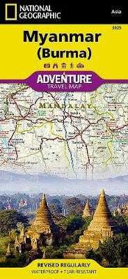 Myanmar (burma): Travel Maps International Adventure Map (Sheet map, folded)