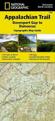 Appalachian Trail, Davenport Gap To Damascus, North Carolina, Tennessee: Trails Illustrated (Sheet map, folded)