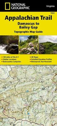 Appalachian Trail, Damascus To Bailey Gap, Virginia: Trails Illustrated (Sheet map, folded)