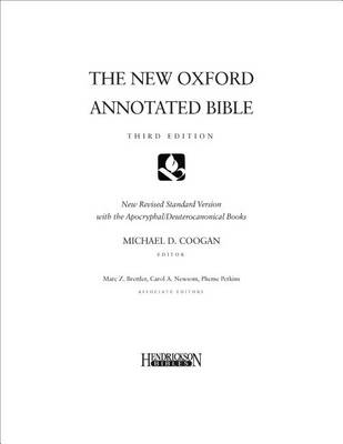 New Oxford Annotated Bible-NRSV-Loose-Leaf