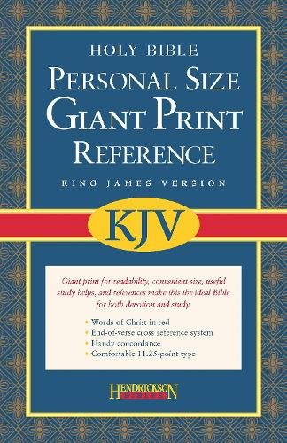 KJV Personal Size Giant Print Reference Bible (Leather / fine binding)