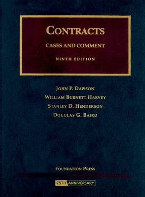 Contracts: Cases and Comment - University Casebooks (Hardback)