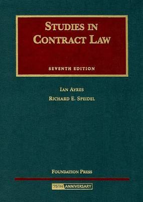 Studies in Contract Law - University Casebooks (Hardback)