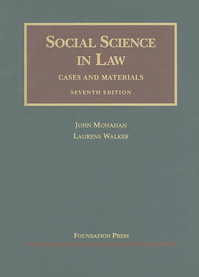 Social Science in Law: Cases and Materials - University Casebooks (Hardback)