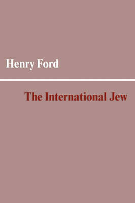 The International Jew (Paperback)
