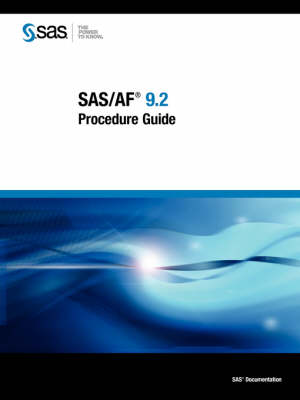 SAS/AF 9.2 Procedure Guide (Paperback)