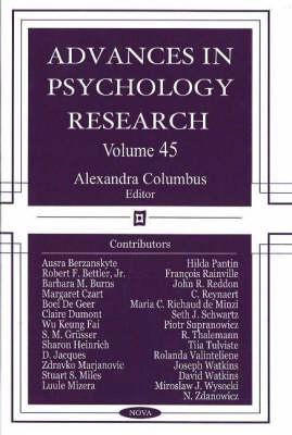 Advances in Psychology Research: Volume 45 (Hardback)