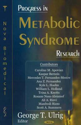 Progress in Metabolic Syndrome Research (Hardback)