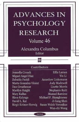 Advances in Psychology Research: Volume 46 (Hardback)