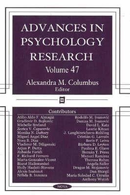 Advances in Psychology Research: Volume 47 (Hardback)