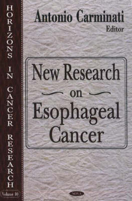 New Research on Esophageal Cancer (Hardback)