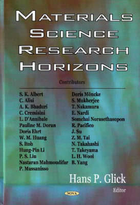 Materials Science Research Horizons (Hardback)