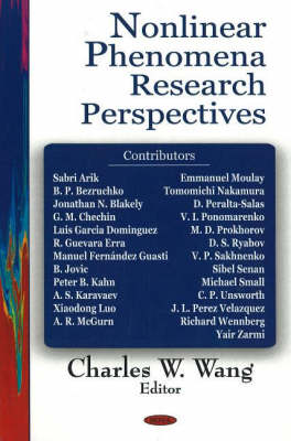 Nonlinear Phenomena Research Perspectives (Hardback)
