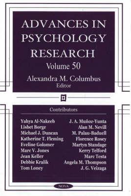 Advances in Psychology Research: Volume 50 (Hardback)