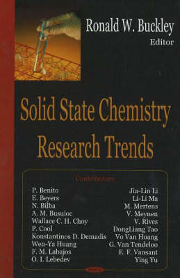 Solid State Chemistry Research Trends (Hardback)