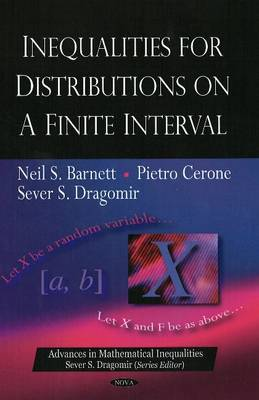 Inequalities for Distributions on a Finite Interval (Hardback)