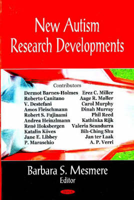 New Autism Research Developments (Hardback)