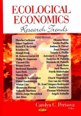 Ecological Economics Research Trends (Hardback)