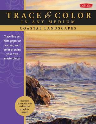 Coastal Landscapes: Trace Line Art onto Paper or Canvas, and Color or Paint Your Own Masterpieces (Paperback)
