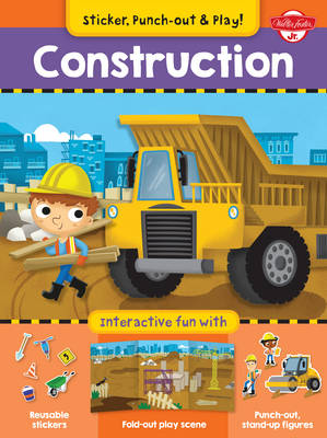 Construction: Interactive Fun with Fold-out Play Scene, Reusable Stickers, and Punch-out, Stand-Up Figures! (Paperback)