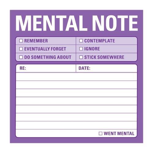 Knock Knock Sticky: Mental Note (Stickers)