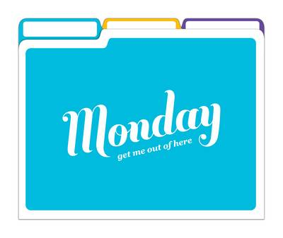 Days of the Week File Folders - File Folders