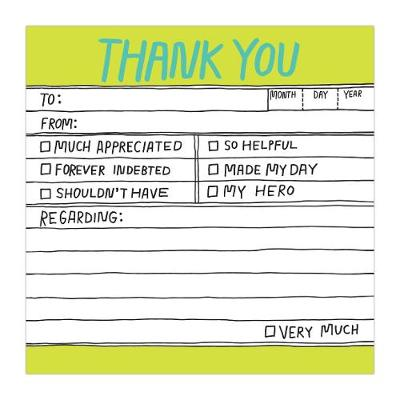Knock Knock Hand-Lettered Thank You Sticky - Hand-Lettered Sticky Notes (Stickers)