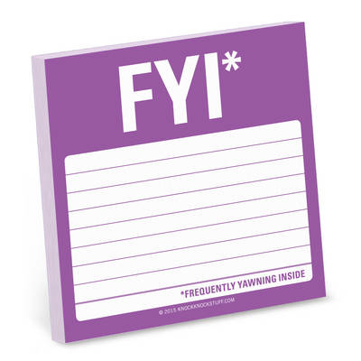 FYI Sticky Note - Simple Stickies (Stickers)