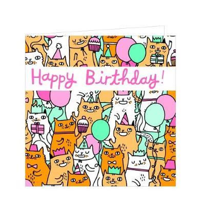 Birthday Cats Green Giftnotes