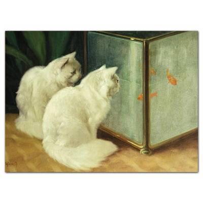 Notecard Boxes - Artful Cats