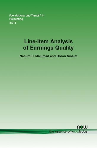 Line-item Analysis of Earnings Quality - Foundations and Trends (R) in Accounting (Paperback)