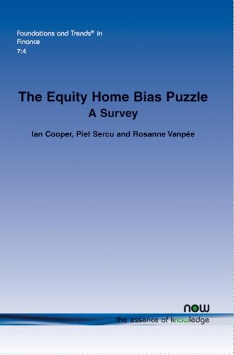 The Equity Home Bias Puzzle: A Survey - Foundations and Trends in Finance (Paperback)