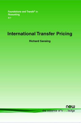 International Transfer Pricing - Foundations and Trends in Accounting (Paperback)