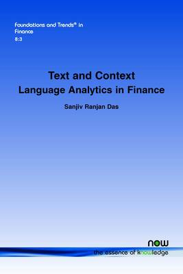 Text and Context: Language Analytics in Finance - Foundations and Trends in Finance (Paperback)