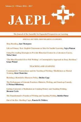 Jaepl: The Journal of the Assembly for Expanded Perspectives on Learning (Vol. 22, 2016-2017) (Paperback)