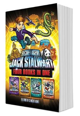 Secret Agent Jack Stalwart (Books 5-8): The Secret of the Sacred Temple, The Pursuit of the Ivory Poachers, The Puzzle of the Missing Panda, Peril at the Grand Prix (Hardback)