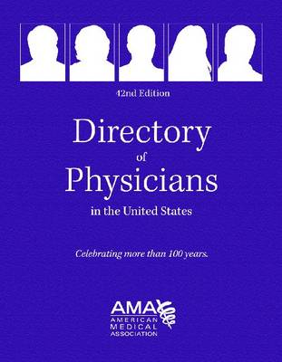 Directory of Physicians in the Us 4 Vol Set - Directory of Physicians in the United States (4v.) (Hardback)