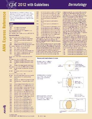 CPT Express Reference Coding Cards 2012: Dermatology