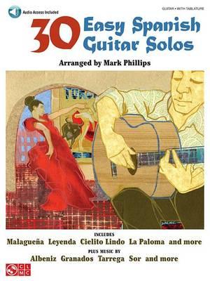 30 Easy Spanish Guitar Solos (Paperback)