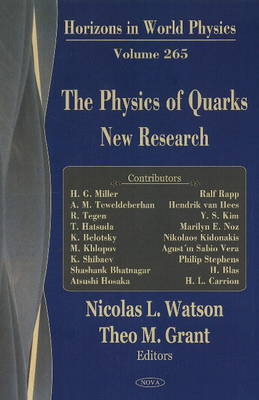 Physics of Quarks: New Research (Hardback)