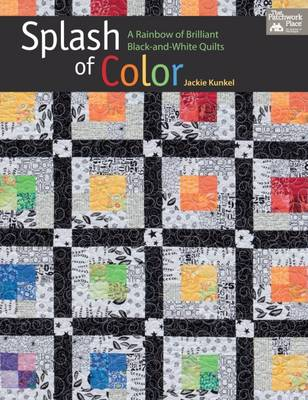 Splash of Color: A Rainbow of Brilliant Black-And-White Quilts (Paperback)