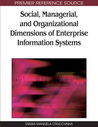 Social, Managerial, and Organizational Dimensions of Enterprise Information Systems (Hardback)