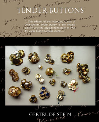 Tender Buttons Objects--Food--Rooms (Paperback)