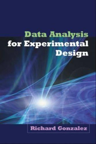 Data Analysis for Experimental Design (Hardback)