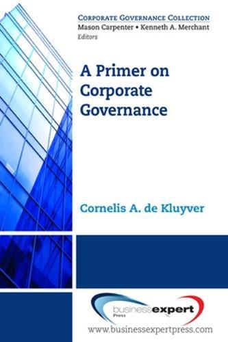 A Primer on Corporate Governance (Paperback)