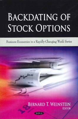 Backdating of Stock Options (Paperback)