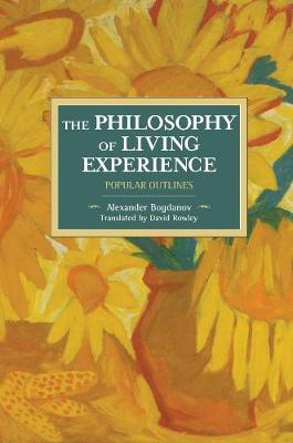 The Philosophy Of Living Experience: Popular Outlines: Historical Materialism Volume 111 - Historical Materialism (Paperback)