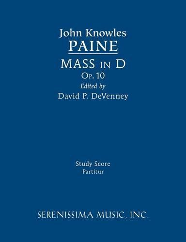 Mass in D, Op.10: Study Score (Paperback)